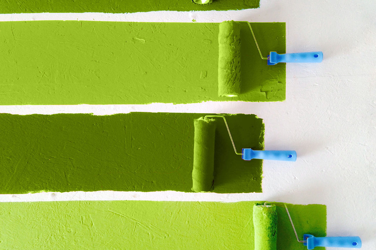 paint-rollers-painting-green