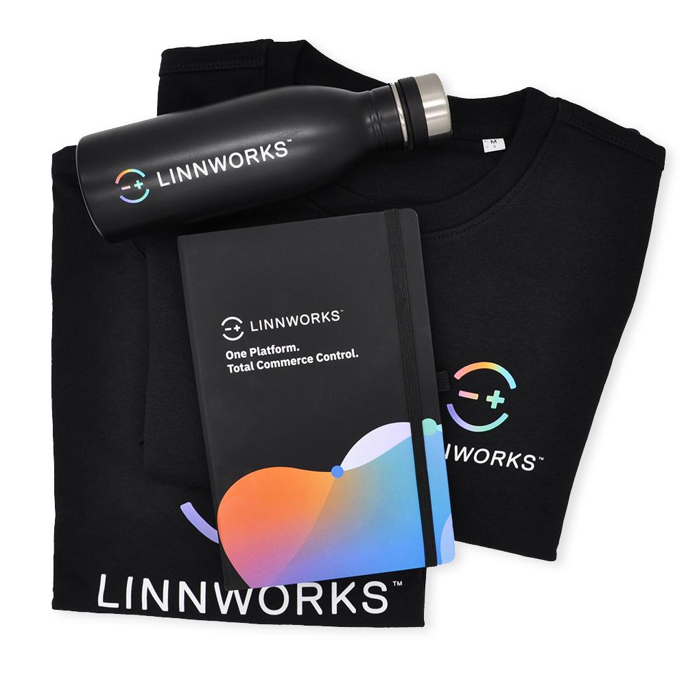 promotional-notebook-bottle-and-clothing-for-linnworks